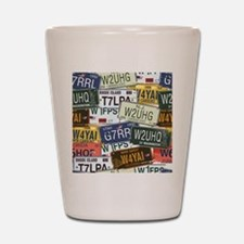 Vintage License Plates Shot Glass