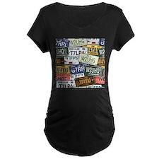 Vintage License Plates Maternity T-Shirt