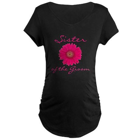 Groom's Sister Maternity Dark T-Shirt