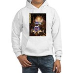 Queen-Sir Pug (17) Hooded Sweatshirt