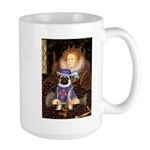 Queen-Sir Pug (17) Large Mug