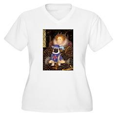 Queen-Sir Pug (17 T-Shirt