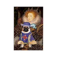 Queen-Sir Pug (17) Rectangle Magnet
