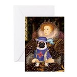 Queen-Sir Pug (17) Greeting Cards (Pk of 20)
