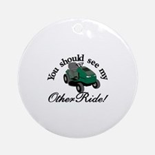 My Other Ride Ornament (Round)