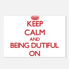 Keep Calm and Being Dutif Postcards (Package of 8)