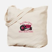 Drive Red Tractors Tote Bag