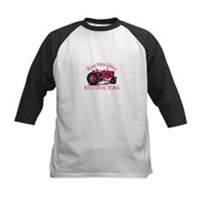 Drive Red Tractors Baseball Jersey
