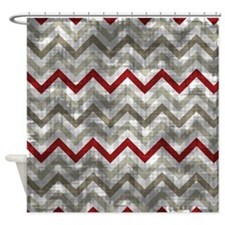 Red And Gray Chevron Shower Curtains Red And Gray Chevron Fabric Shower Cur