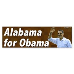 Alabama for Obama bumper sticker