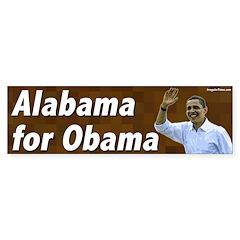 Alabama for Obama bumper sticker