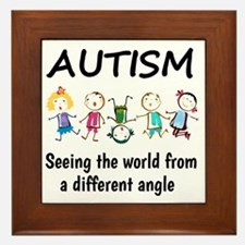 Autism...seeing the world from a diffe Framed Tile