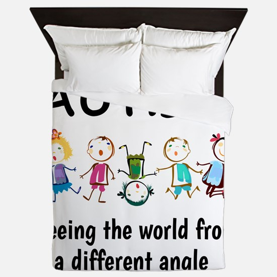 Autism...seeing the world from a diffe Queen Duvet