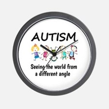 Autism...seeing the world from a differ Wall Clock