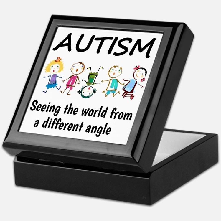 Autism...seeing the world from a diff Keepsake Box