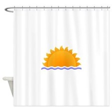 Sun and Water Shower Curtain