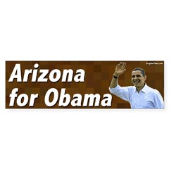 Arizona for Obama bumper sticker