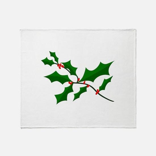 Holly Throw Blanket