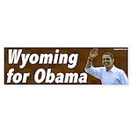 Wyoming for Obama bumper sticker