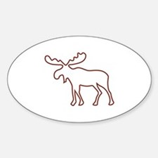 Moose Outline Decal