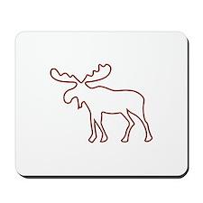 Moose Outline Mousepad
