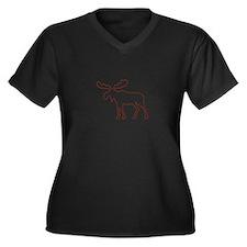 Moose Outline Plus Size T-Shirt