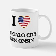 I love Buffalo City Wisconsin Mug