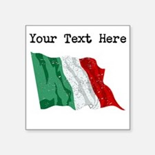 Italy Flag (Distressed) Sticker