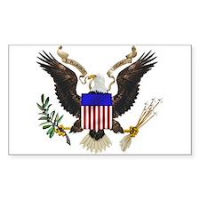U.S. Seal Rectangle Decal