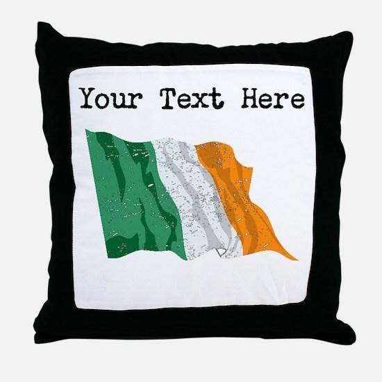 Ireland Flag (Distressed) Throw Pillow