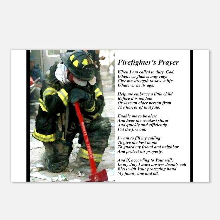 Old Version Firefighter Prayer Postcards (Package