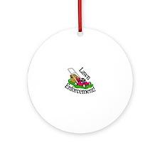 Lawn Enforcement Ornament (Round)