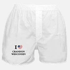 I love Crandon Wisconsin Boxer Shorts