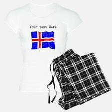 Iceland Flag (Distressed) Pajamas