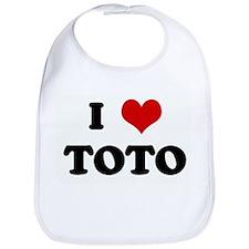 I Love TOTO Bib
