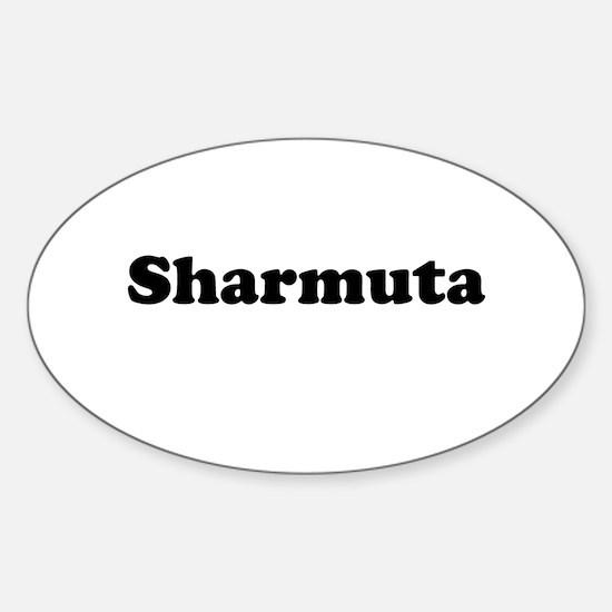 Sharmuta Oval Decal