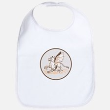 Angry Griiffin Side Circle Cartoon Bib