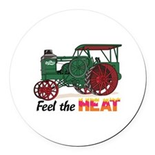 Feel the Heat Round Car Magnet