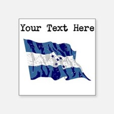 Honduras Flag (Distressed) Sticker