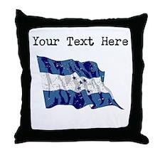 Honduras Flag (Distressed) Throw Pillow