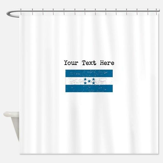 Honduras Flag (Distressed) Shower Curtain