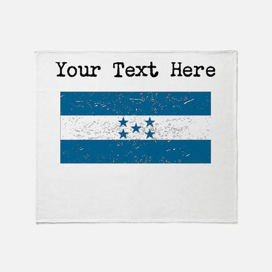 Honduras Flag (Distressed) Throw Blanket