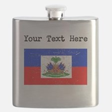 Haiti Flag (Distressed) Flask