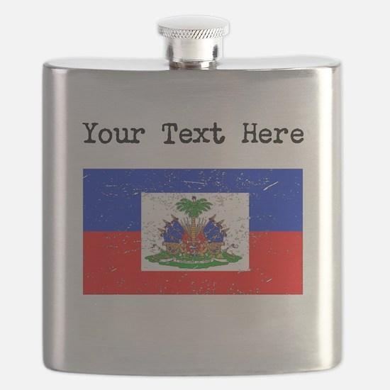Haiti Flag (Distressed) Flask