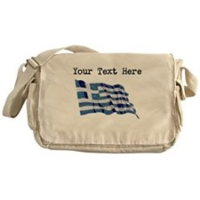 Greece Flag (Distressed) Messenger Bag