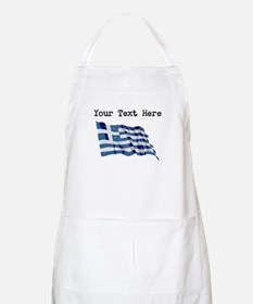 Greece Flag (Distressed) Apron
