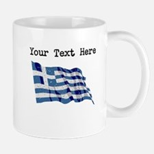 Greece Flag (Distressed) Mugs
