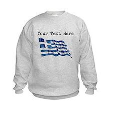 Greece Flag (Distressed) Sweatshirt