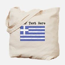 Greece Flag (Distressed) Tote Bag