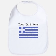 Greece Flag (Distressed) Bib